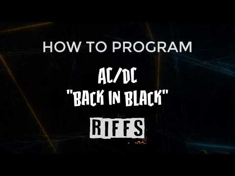 AC/DC Back In Black Riffs