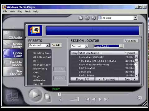 wmp tutorial: radio tuner