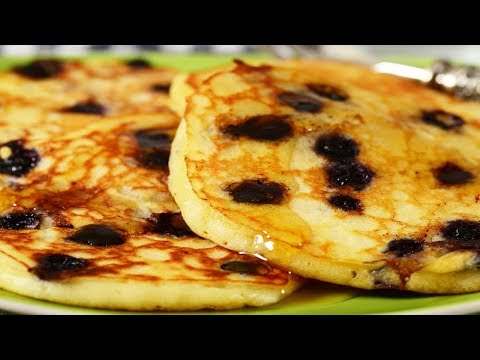 Blueberry Pancakes Recipe Demonstration - Joyofbaking.com
