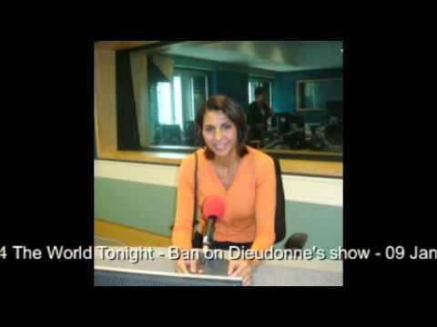 Nabila Ramdani - BBC Radio 4 The World Tonight - Ban on Dieudonne's show - 09 Jan 2014