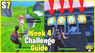 Visit The Noms Sign In Retail Row Week 4 Fortnite Season 7 Challenge