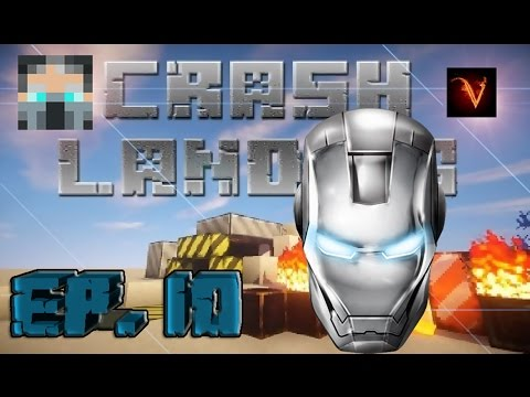 Minecraft   CRASH LANDING EP.10 EL CASCO DE IRON MAN!!!