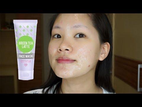 Masker Lokal Emina Green Tea Latte Face Mask - YouTube