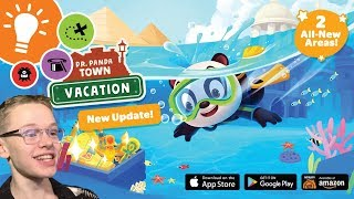 ANCIENT RUINS! UNDERWATER CITY! | Dr. Panda Town: Vacation Update!
