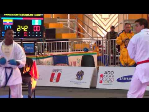 Alejandro Abdalla plata en el karate de Juegos Bolivarianos
