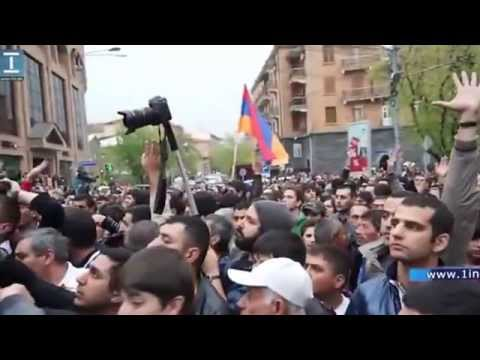 Armenia. Yerevan. 09.04.2013 After Serj Sarkisyan inauguration...