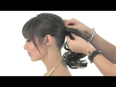 Mid-Length Wrap Around Ponytail by Hairdo   Instant Glamour