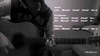 download musica One Kiss Calvin Harris Dua Lipa Guitar Chords Tutorial - MJ