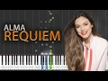 Alma - Requiem (France 2017) Piano Tutorial + MIDI