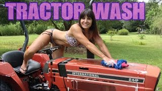 Restore your tractor! Beautiful 48 Year Old Farm Girl. How to clean tractor, headlights to tires!
