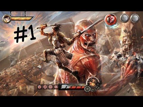 ( Как мы с друзьями играли по сети + ролик ) Attack on Titan Tribute Game #1