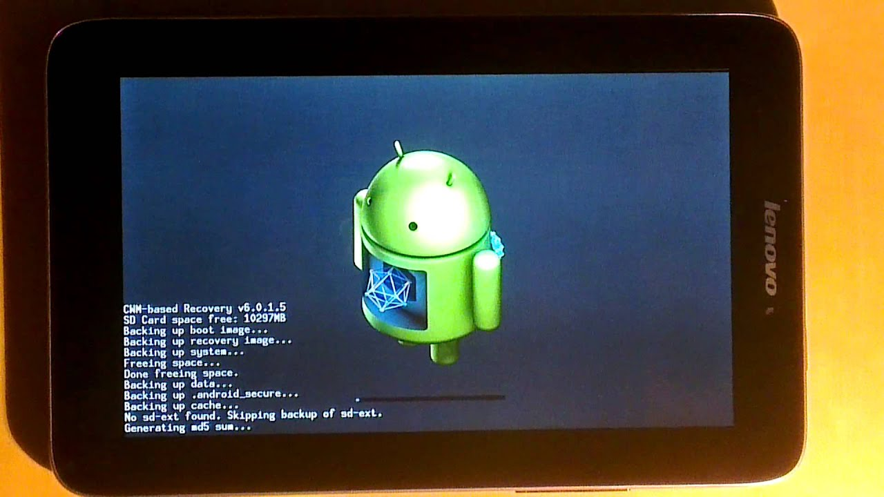 Lenovo IdeaTab A2107A-H + ROOT + Clockwork Mod Recovery 6