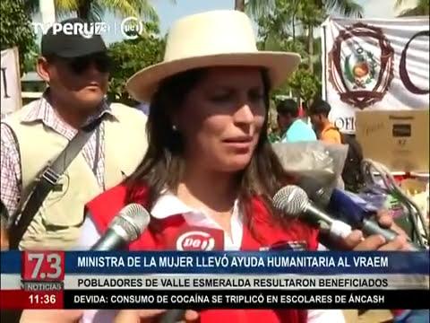 Ministra de la Mujer brindo ayuda al VRAEM