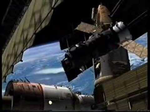 Video Mir Space Station Mir Space Station Collision