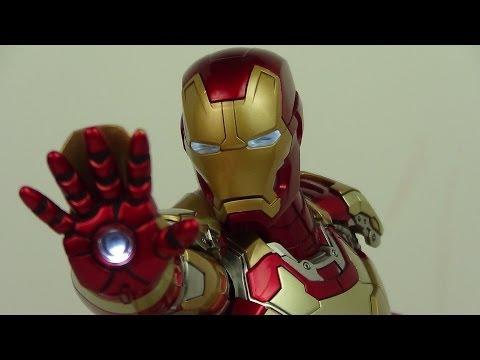 Hot Toys Iron Man 3 Power Pose Mark XLII 42 Iron Man 1/6 Scale Figure Review