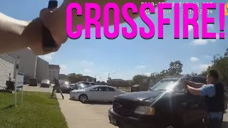 INSANE crossfire between cops in New Orleans police shooting - Police Breakdown