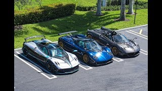 Pagani Zonda F, Pagani Huayra L'ULTIMO, Huayra Roadster Most Beautiful Supercars at Pagani Miami