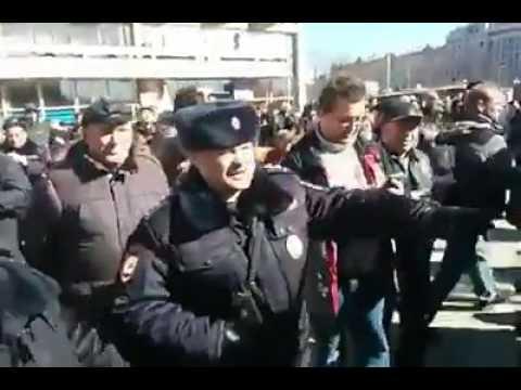 Попытка оппозиции провести несанкционированные митинги вРоссии