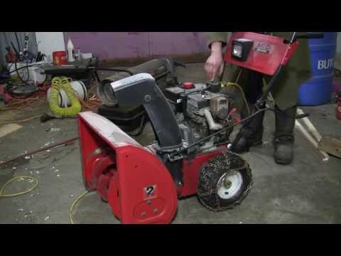 Carb replacement on an MTD snowblower