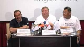 Пресс-конференция М.Ю. Кожухова и М.B. Слипенчука