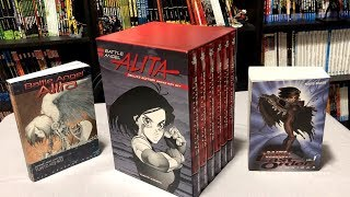 Battle Angel Alita Deluxe Complete Series Box Set Unboxing and ending comparison