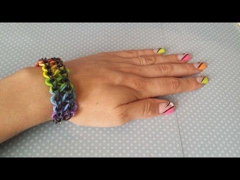 Comment faire un bracelet double en elastique videolike - Comment faire bracelet elastique ...
