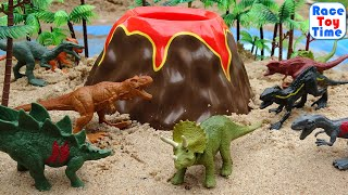 Dino Volcano Island Adventure - Learn Dinosaurs Names Fun Toys For Kids