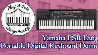 Yamaha PSRE 263  Portable Digital Keyboard Demo - Best Selling Digital Keyboard Under $200!