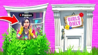 I Found a SECRET Girls Only House! - Fortnite