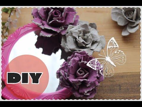 Поделки цветы из яичных лотков ✿РОЗЫ ✿ ROSE FROM AN EGG CARTON!✿Anna Crystal