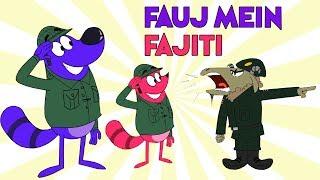 Pyaar Mohabbat Happy Lucky - Ep.2   Fauj Mein Fajiti   Hindi Animated Cartoon Show   ZeeQ