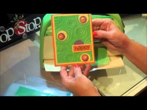 Cuttlebug Machine with Embossing Folders - Embossing Folder Tutorial Series #1