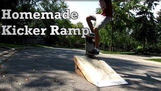Homemade Skateboard Ramp - Build and Skating
