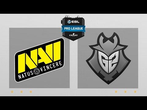 CS:GO - Na'Vi vs. G2 [Overpass] Map 2 - ESL Pro League Season 5 - EU Matchday 23
