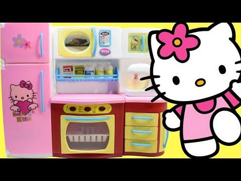 Hello Kitty Kitchen Playset - Toy Kitchen Hello Kitty Cooking Toys Playset For Kids by Haus Toys