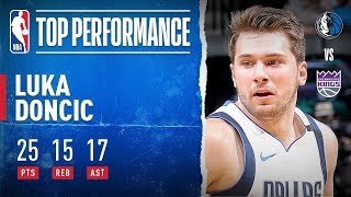 Luka Dishes Out CAREER-HIGH 17 AST!