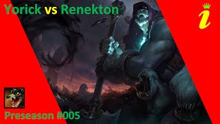 Yorik vs Renekton silver full gameplay no commentary