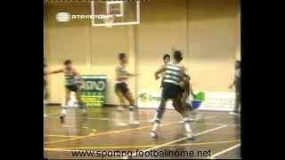 Basquetebol :: Ovarense - 106 x Sporting - 87 de 1988/1989 Torneio do Ginásio