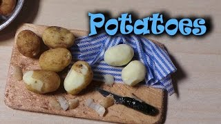 EASY; Realistic Miniature Potatoes - Polymer Clay Tutorial