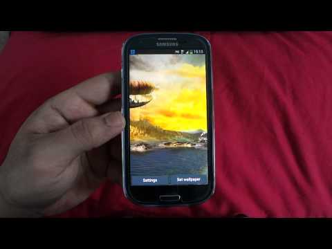 BEST ANDROID LIVE WALLPAPERS ON SAMSUNG GALAXY S3 GT I9300 REVIEW 6