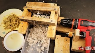 How to Make a Drill Powered Ginger/Coconut Grater at Home  |DIY .