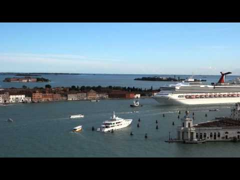 Big Cruise Ship into Venice Italy