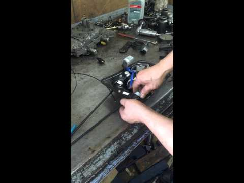How to change Sienna power sliding door cable part 1