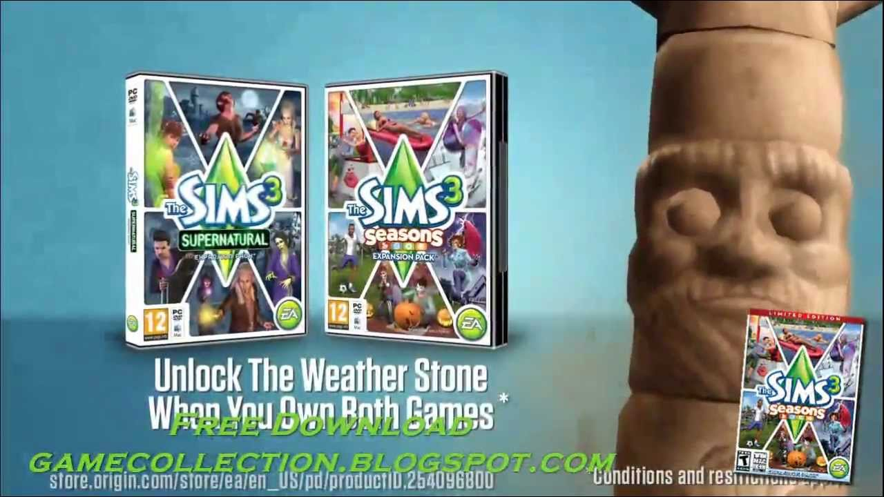 how to get sims 3 supernatural for free on pc