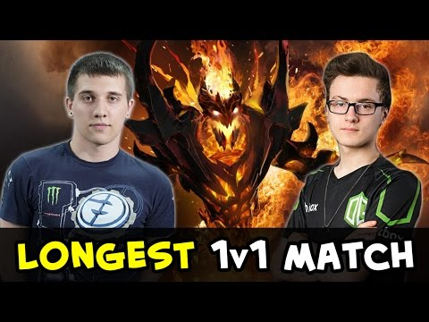 Arteezy vs Miracle — longest 1v1 Shadow Fiend match
