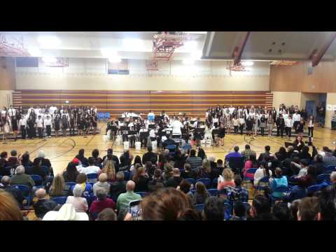 1-21-15 NJHS Newark Junior High School Combined Groups - It's Time by Imagine Dragons High View