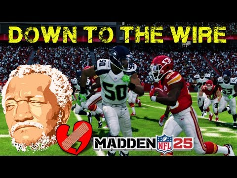"Madden NFL 25 - Jamaal Charles "" DOWN TO THE WIRE "" Crazy ! Madden 25 - Online Ranked Match"