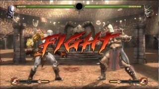 Mortal Kombat 9  Arcade Ladder  BONUS  Kratos VS S