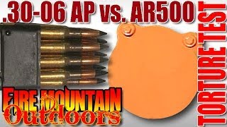 M1 Garand .30-06 AP VS. AR500 Steel Plate - Ballistic Torture Test: Destroyed!
