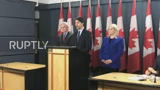Canada Trudeau announces compensation for families of Iran plane crash